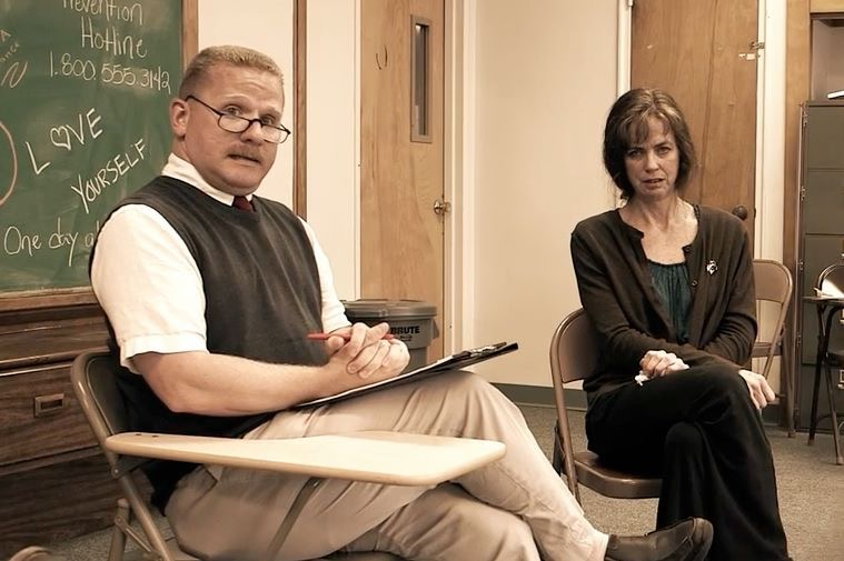 Suicide Support Group with Timothy J. Cox and Mary Hronicek (Photo courtesy of Timothy J. Cox)